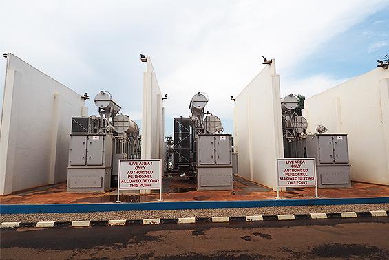 ウガンダの変圧器